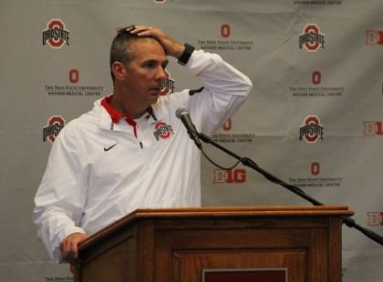 Meyer didn't have many answers moments after his first road loss.