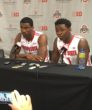 Giddens (left) gave up years of playing with with teammates like Jae'Sean Tate (right) to head to the SEC.