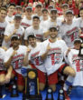 OSU's male spikers bask in the glow. (photo courtesy The Ohio State University)